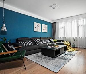 客廳墻布的顏色窗簾效果圖大全