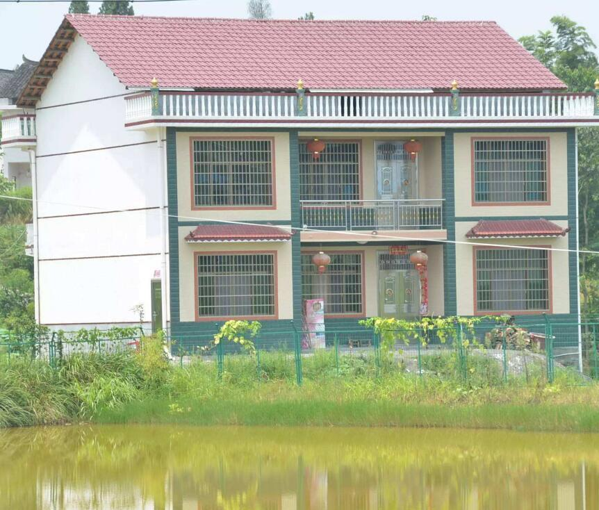农村房子外墙不贴瓷砖效果图