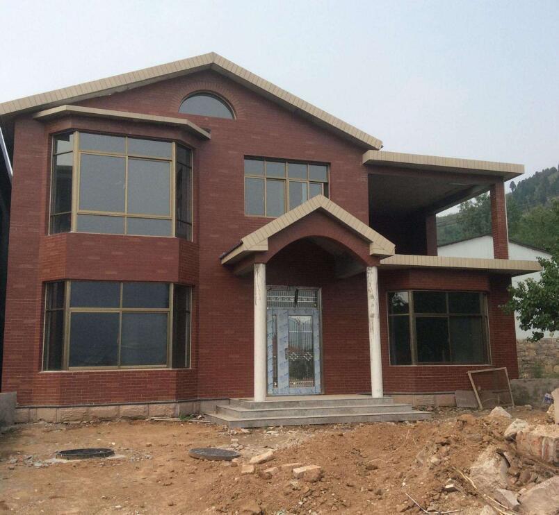 房子外墙红色瓷砖效果图大全