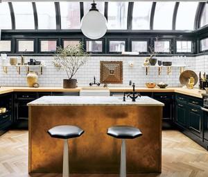饭店开放式厨房吧台装修效果图