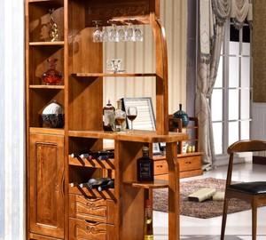 实木酒柜鞋柜一体柜效果图