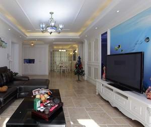 硅藻泥蓝色客厅装修效果图大全