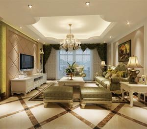 硅藻泥欧式客厅装修效果图大全2020图片