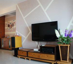 简约风格客厅硅藻泥背景墙装修效果图大全