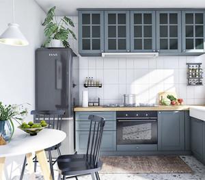 北欧田园风格的厨房装修效果图