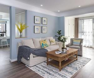 北欧田园风格装修效果图小户型客厅