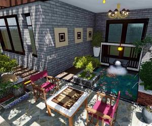 別墅3層露天花園平面圖