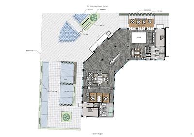 房地产售楼部设计方案平面图