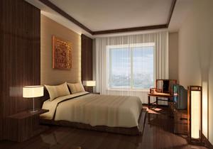 新中式臥室窗臺裝修效果圖欣賞
