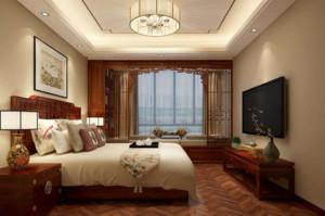 新中式卧室窗台装修效果图