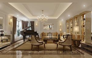 别墅简欧家装客厅设计效果图