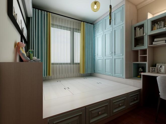 臥室帶飄窗的小書房裝修效果圖大全