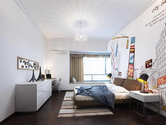 帶飄窗的臥室整體裝修效果圖大全