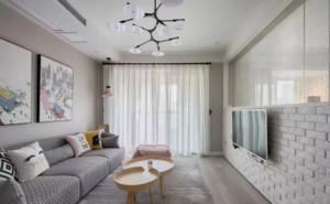 家装北欧客厅电视墙设计效果图大全