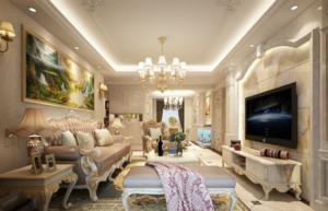 家裝簡歐式客廳設計效果圖