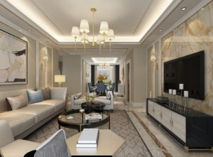 家裝簡歐客廳設計效果圖