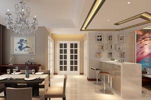 餐廳與客廳吧臺隔斷裝修效果圖