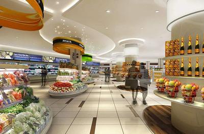 果蔬生活超市装修效果图