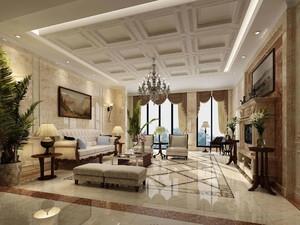 新古典欧式装修风格效果图客厅