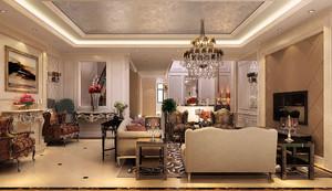 欧式新古典装修风格效果图客厅