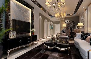 歐式新古典兩間的房間裝修風格