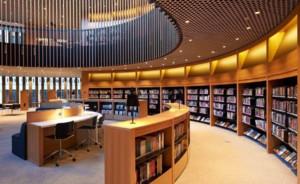 学校图书馆装修吧台效果图