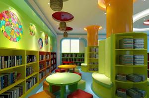 小学图书馆装修效果图