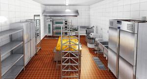 餐館廚房平面設計圖手畫