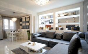 现代家装客厅饭厅混合设计效果图