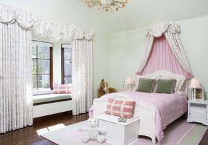 带小飘窗的女生卧室装修效果图
