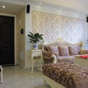 客廳歐式沙發70平米裝修