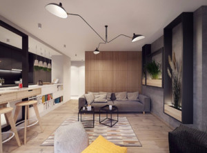 40平米公寓型装修效果图
