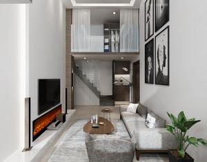 20平米復式客廳裝修效果圖