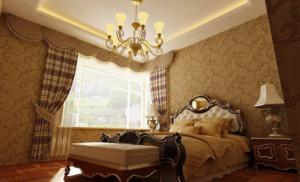 帶飄窗的簡歐風格臥室裝修效果圖大全