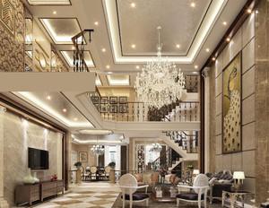 70平方别墅复式客厅装修效果图