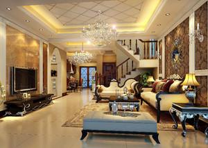 96平米复式小别墅客厅装修效果图