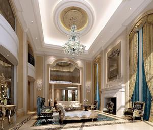 别墅复式大客厅装修效果图大全