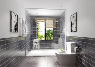 长方形卫生间放洗衣机设计图