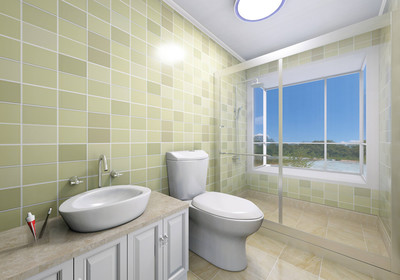 四平方米长方形卫生间设计图
