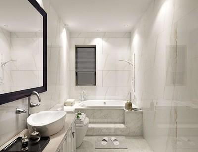 长方形卫生间装修如何设计图