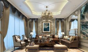 别墅欧式复式大客厅装修效果图