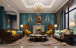 復式別墅大客廳裝修效果圖