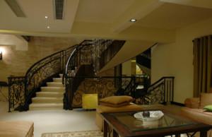 复式别墅客厅楼梯装修效果图大全