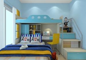 兒童房裝修效果圖男孩上下床
