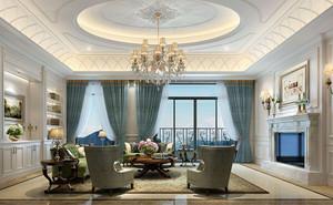 別墅簡歐家裝客廳設計效果圖一覽