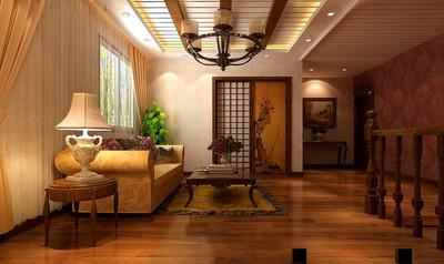 美式别墅客厅吊顶