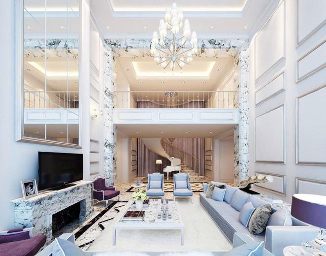 现代别墅客厅吊顶