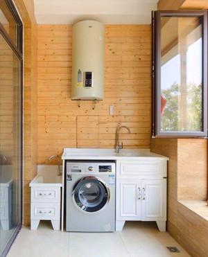 陽臺洗衣機裝修效果圖拖把池