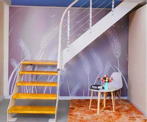 鋼木樓梯立柱效果圖