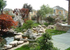 別墅庭院綠化設計效果圖
